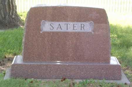 SATER, HEADSTONE - Lyon County, Iowa   HEADSTONE SATER