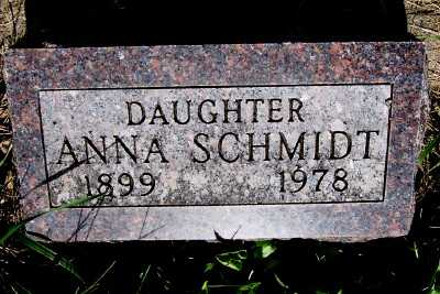 SCHMIDT, ANNA F. - Lyon County, Iowa | ANNA F. SCHMIDT