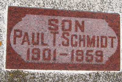SCHMIDT, PAUL T. - Lyon County, Iowa | PAUL T. SCHMIDT