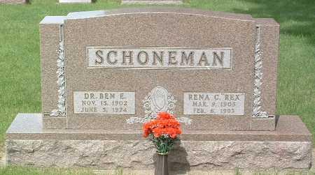 SCHOENEMAN, BEN E. - Lyon County, Iowa | BEN E. SCHOENEMAN