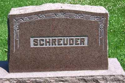 SCHREUDER, FAMILY HEADSTONE - Lyon County, Iowa   FAMILY HEADSTONE SCHREUDER