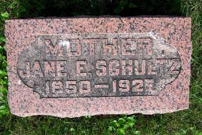 SCHULTZ, JANE E. - Lyon County, Iowa   JANE E. SCHULTZ