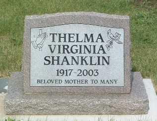 SHANKLIN, THELMA VIRGINIA - Lyon County, Iowa   THELMA VIRGINIA SHANKLIN