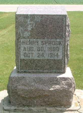 SPROCK, HENRY - Lyon County, Iowa | HENRY SPROCK
