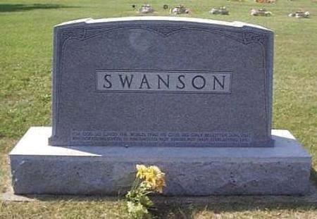 SWANSON, FAMILY HEADSTONE - Lyon County, Iowa   FAMILY HEADSTONE SWANSON