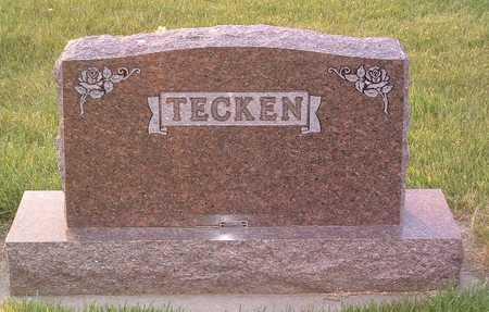 TECKEN, HEADSTONE - Lyon County, Iowa | HEADSTONE TECKEN
