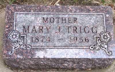 TRIGG, MARY J. - Lyon County, Iowa   MARY J. TRIGG