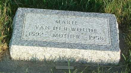 VAN DER WOUDE, MARIE - Lyon County, Iowa | MARIE VAN DER WOUDE