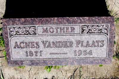 VANDER PLAATS, AGNES - Lyon County, Iowa | AGNES VANDER PLAATS