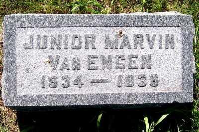 VAN ENGEN, JUNIOR MARVIN - Lyon County, Iowa   JUNIOR MARVIN VAN ENGEN