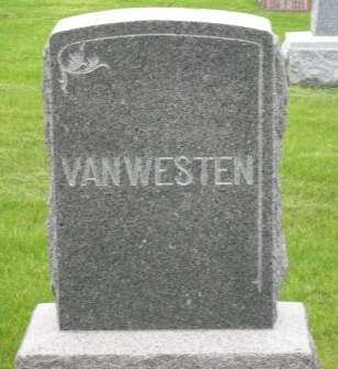 VANWESTEN, FAMILY HEADSTONE - Lyon County, Iowa   FAMILY HEADSTONE VANWESTEN