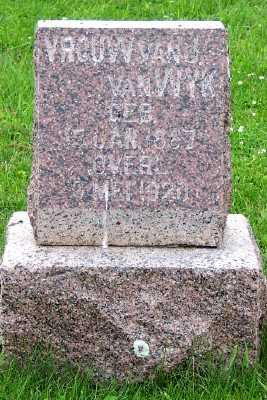 VAN  WYK, MRS. J. - Lyon County, Iowa | MRS. J. VAN  WYK