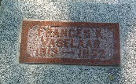 VASELAAR, FRANCES K. - Lyon County, Iowa | FRANCES K. VASELAAR