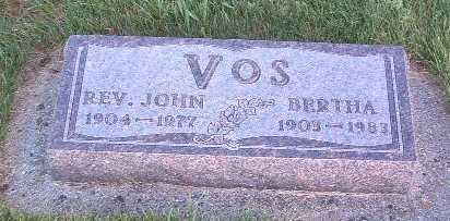 VOS, BERTHA - Lyon County, Iowa | BERTHA VOS