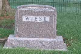 WIESE, HEADSTONE - Lyon County, Iowa   HEADSTONE WIESE
