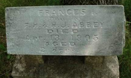 ABBEY, FRANCES I. - Madison County, Iowa | FRANCES I. ABBEY