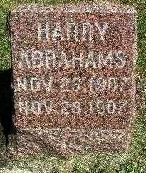 ABRAHAMS, HARRY - Madison County, Iowa | HARRY ABRAHAMS