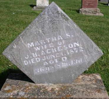 ACHESON, MARTHA S. - Madison County, Iowa | MARTHA S. ACHESON