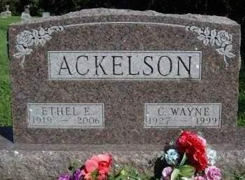 ACKELSON, ETHEL EILEEN - Madison County, Iowa | ETHEL EILEEN ACKELSON