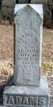 ADAMS, FANNIE M. - Madison County, Iowa   FANNIE M. ADAMS
