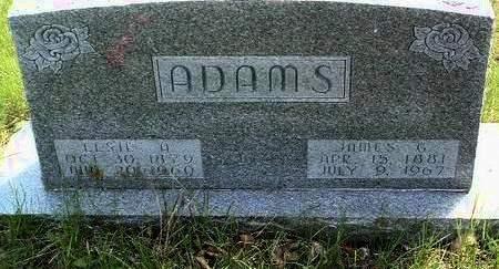 ADAMS, JAMES GARFIELD - Madison County, Iowa | JAMES GARFIELD ADAMS