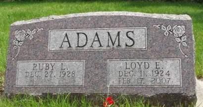 ADAMS, LOYD ELVIN - Madison County, Iowa   LOYD ELVIN ADAMS