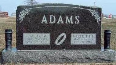 ADAMS, LAVETA MARY - Madison County, Iowa | LAVETA MARY ADAMS