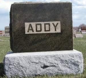 ADDY, FAMILY STONE - Madison County, Iowa   FAMILY STONE ADDY