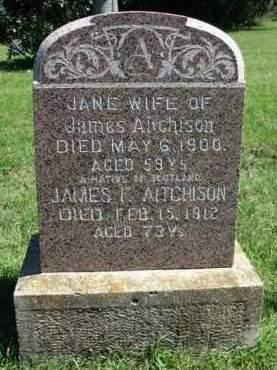AITCHISON, GRACE JANE M. - Madison County, Iowa | GRACE JANE M. AITCHISON