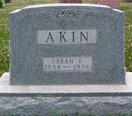 AKIN, SARAH ELLEN - Madison County, Iowa | SARAH ELLEN AKIN
