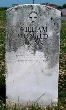 AKIN, WILLIAM DONALD - Madison County, Iowa   WILLIAM DONALD AKIN