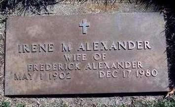 ALEXANDER, IRENE MAE - Madison County, Iowa | IRENE MAE ALEXANDER