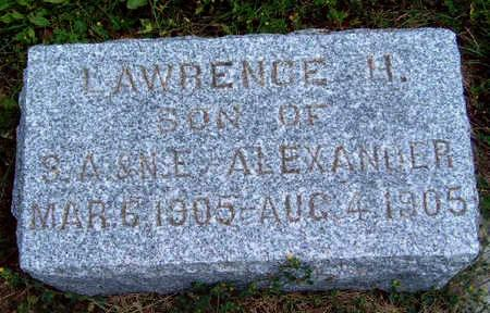 ALEXANDER, LAWRENCE H. - Madison County, Iowa | LAWRENCE H. ALEXANDER