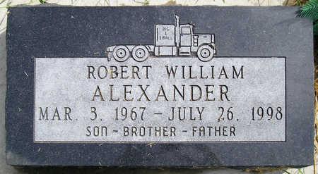 ALEXANDER, ROBERT WILLIAM - Madison County, Iowa | ROBERT WILLIAM ALEXANDER