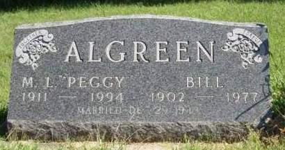 ALGREEN, MARGARET LORAINE (PEGGY) - Madison County, Iowa | MARGARET LORAINE (PEGGY) ALGREEN