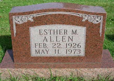 ALLEN, ESTHER MAUDE - Madison County, Iowa | ESTHER MAUDE ALLEN