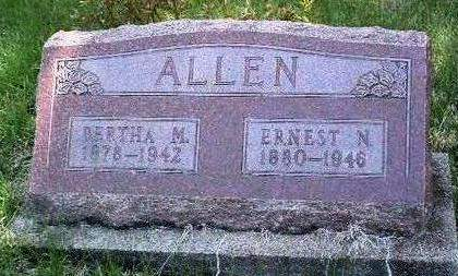 ALLEN, BERTHA MAY - Madison County, Iowa | BERTHA MAY ALLEN