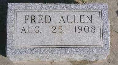 ALLEN, FRED - Madison County, Iowa   FRED ALLEN