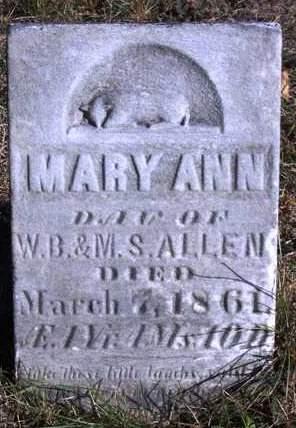 ALLEN, MARY ANN - Madison County, Iowa | MARY ANN ALLEN