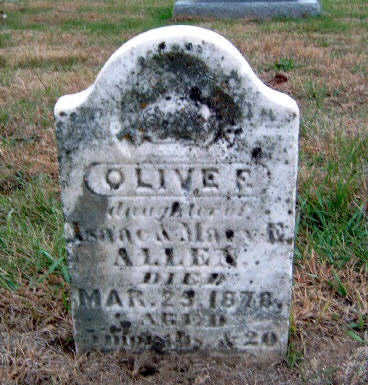ALLEN, OLIVE FLORENCE - Madison County, Iowa | OLIVE FLORENCE ALLEN
