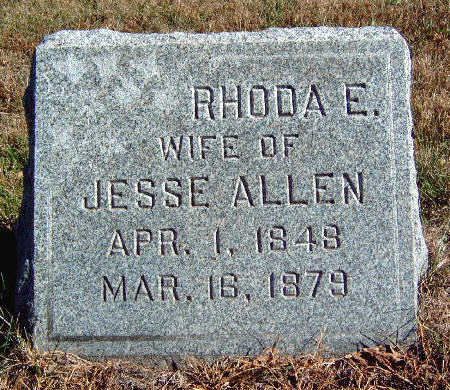 ALLEN, RHODA E - Madison County, Iowa | RHODA E ALLEN