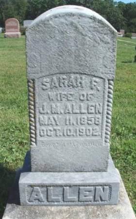 ALLEN, SARAH FRANCES - Madison County, Iowa   SARAH FRANCES ALLEN