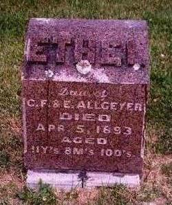 ALLGEYER, ETHEL - Madison County, Iowa | ETHEL ALLGEYER
