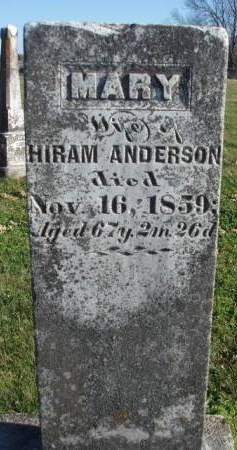 ANDERSON, MARY - Madison County, Iowa | MARY ANDERSON