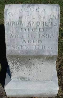 ANDREWS, REBECCA A. - Madison County, Iowa | REBECCA A. ANDREWS
