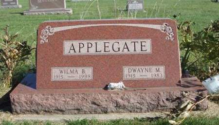 APPLEGATE, WILMA B. - Madison County, Iowa | WILMA B. APPLEGATE