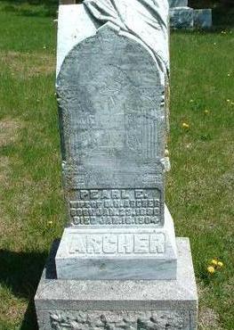 ARCHER, PEARL EMILIE - Madison County, Iowa   PEARL EMILIE ARCHER