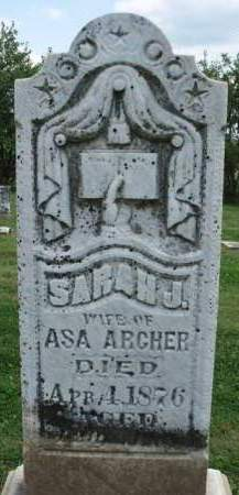 ARCHER, SARAH JANE - Madison County, Iowa   SARAH JANE ARCHER