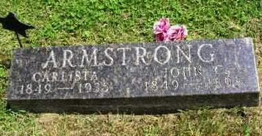 ARMSTRONG, CARLISTA - Madison County, Iowa   CARLISTA ARMSTRONG