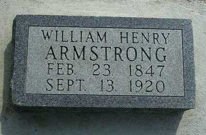 ARMSTRONG, WILLIAM HENRY - Madison County, Iowa | WILLIAM HENRY ARMSTRONG